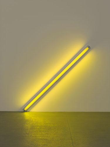 Diagonal of Personal Ecstasy (the Diagonal of May 25, 1963, to Constantin Brancusi) - Dan Flavin