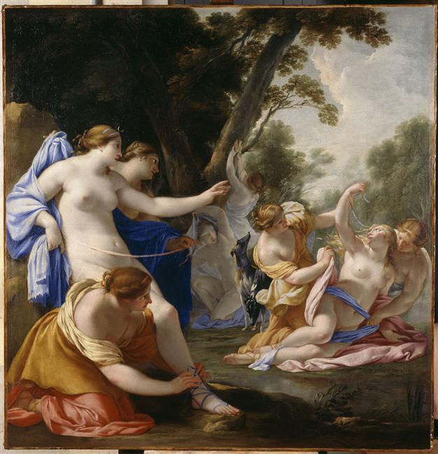 Diane decouvrant la grossesse de Callisto  - Eustache Le Sueur