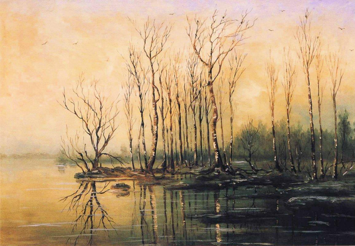 Dimensions and material of painting - Aleksey Savrasov