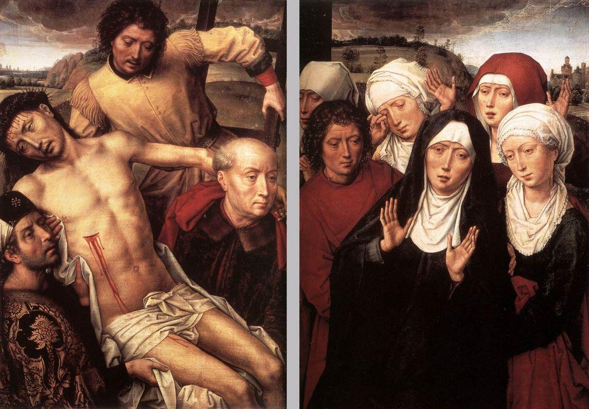 Diptych with the Deposition - Hans Memling