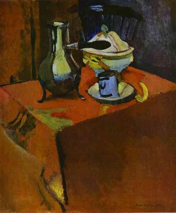 Dishes on a Table  - Henri Matisse