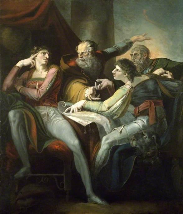 Dispute between Hotspur, Glendower, Mortimer and Worcester - Henry Fuseli