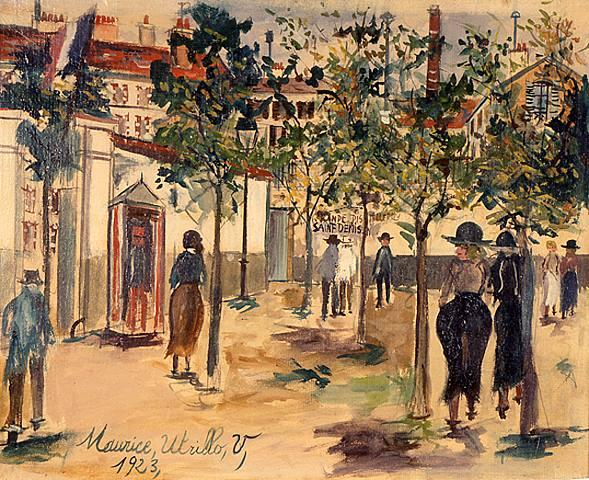 Distillery of Saint-Denis - Maurice Utrillo