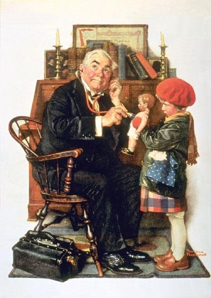 Doctor and Doll - Norman Rockwell