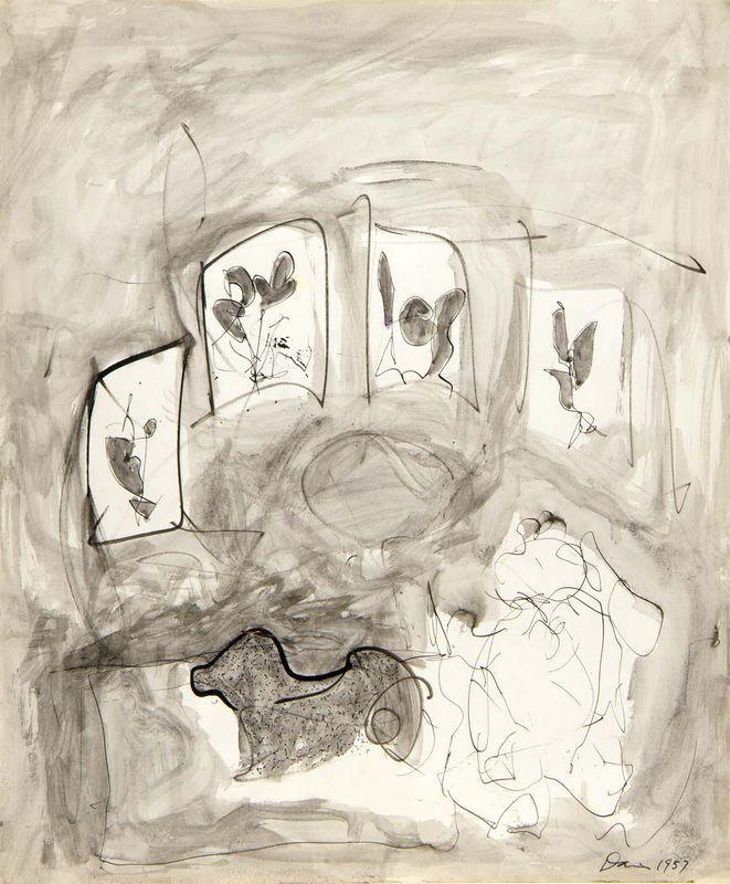 Dog and Flowers  - Gene Davis