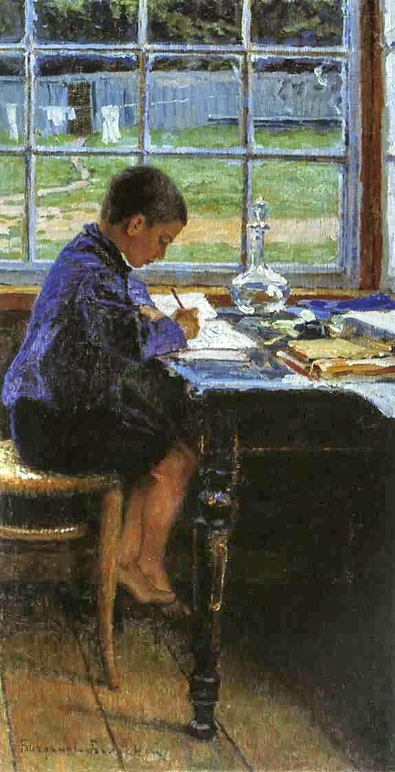 Doing the Lessons - Nikolay Bogdanov-Belsky