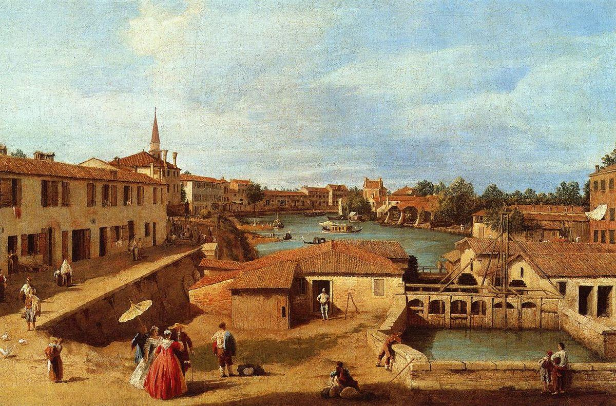 Dolo on the Brenta - Canaletto
