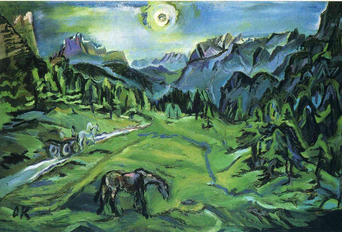 Dolomite Landscape: Tre Croci - Oskar Kokoschka