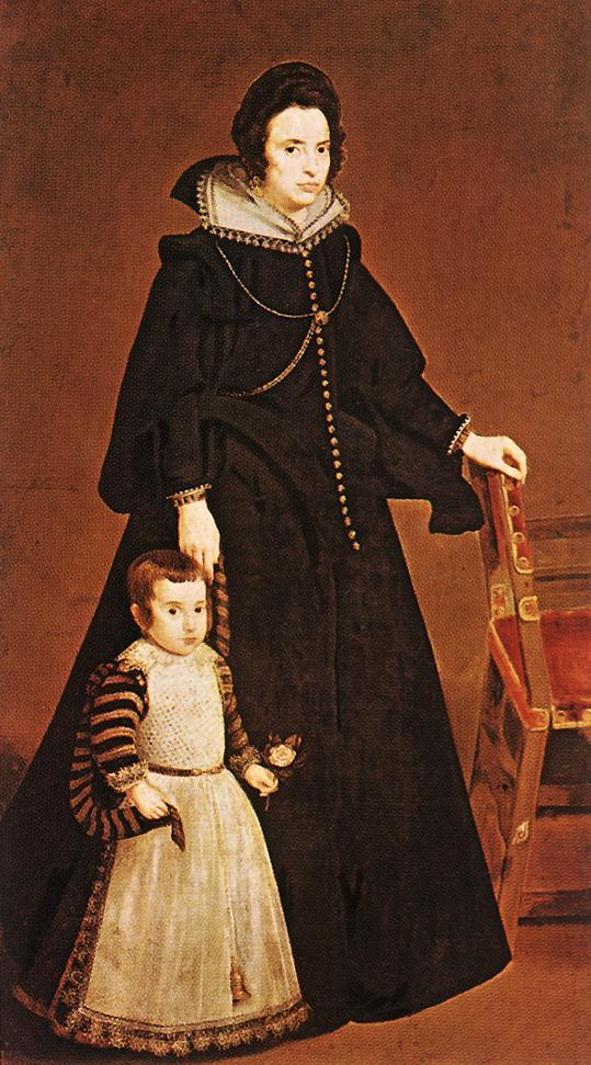 Dona Antonia de Ipenarrieta y Galdos and her Son - Diego Velazquez