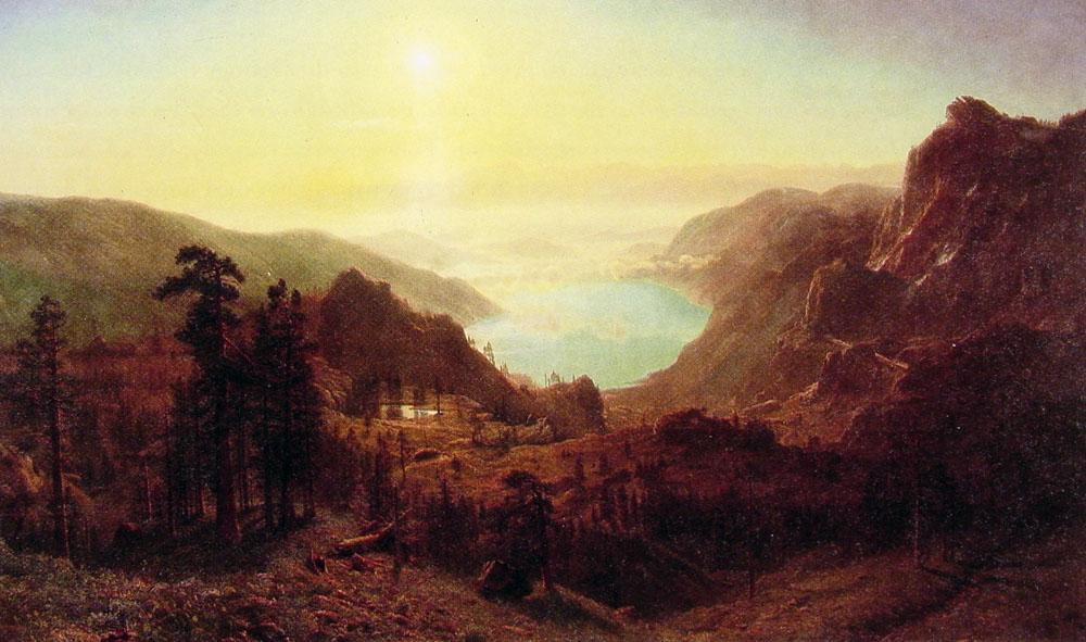 Donner Lake from the Summit - Albert Bierstadt
