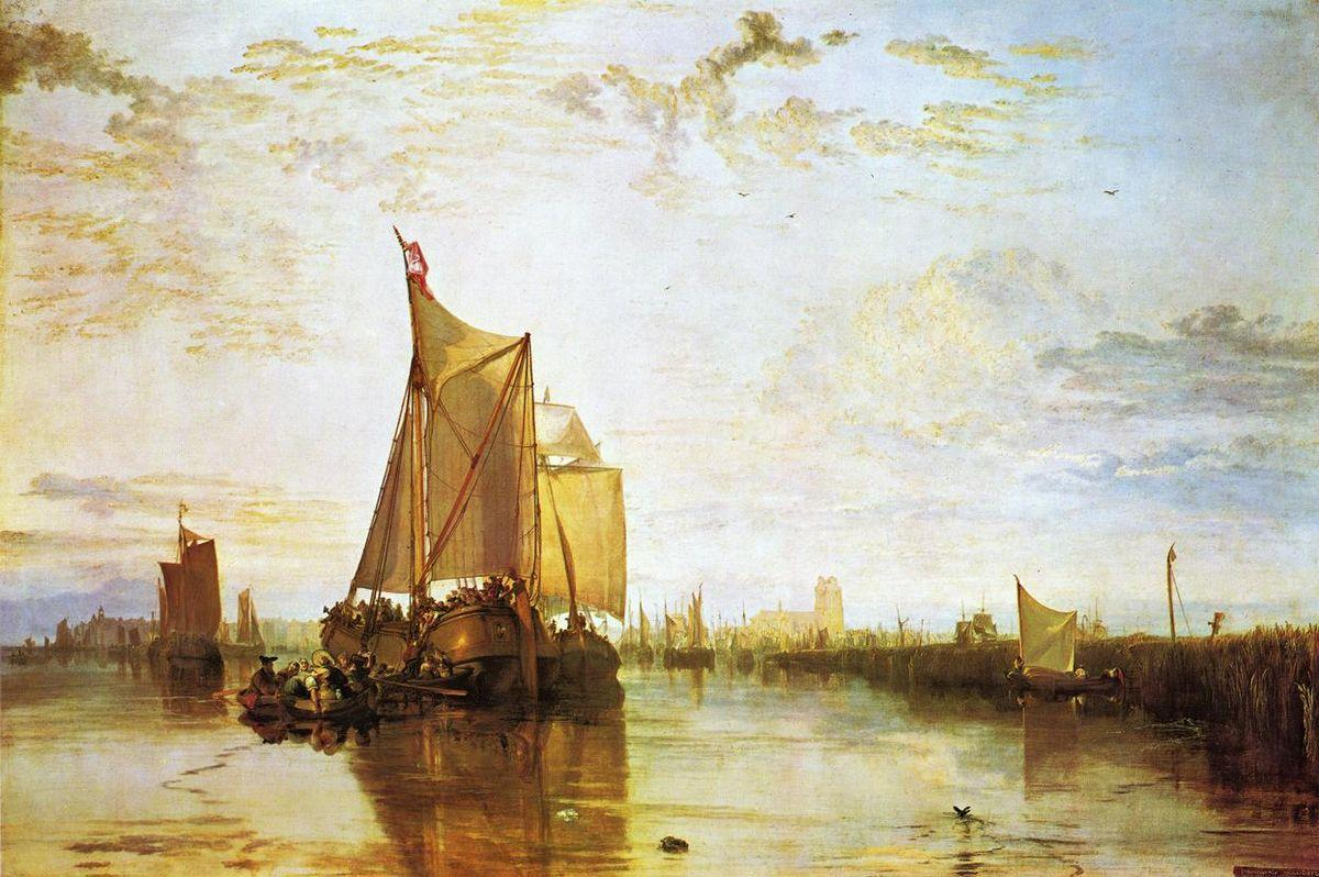 Dort, the Dort Packet Boat from Rotterdam Bacalmed - William Turner