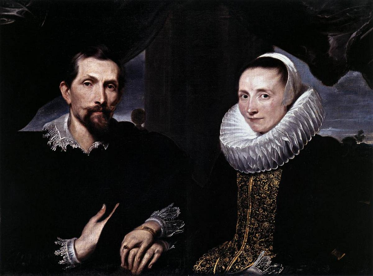Double Portrait of the Painter Frans Snyders and his Wife - Anthony van Dyck