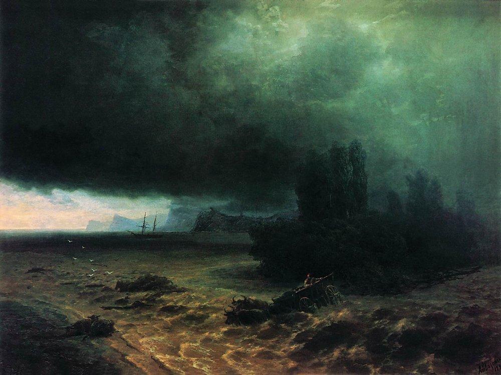 Downpour in Sudak - Ivan Aivazovsky