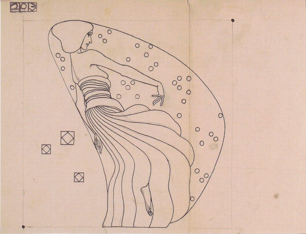 Drafts for metal relief - Koloman Moser