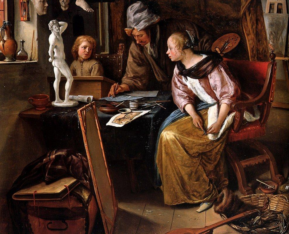 Drawing lesson - Jan Steen