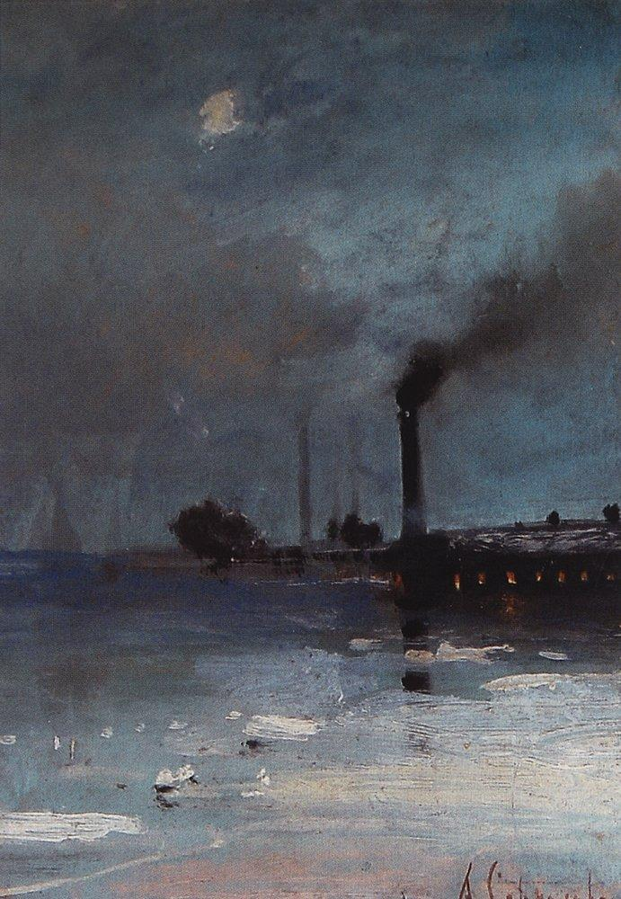 Drifting of ice - Aleksey Savrasov