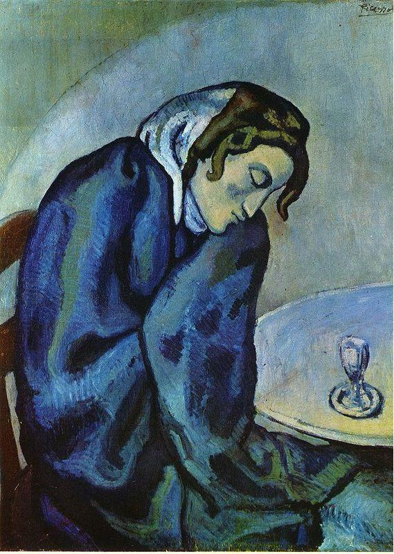 Drunk woman is tired - Pablo Picasso