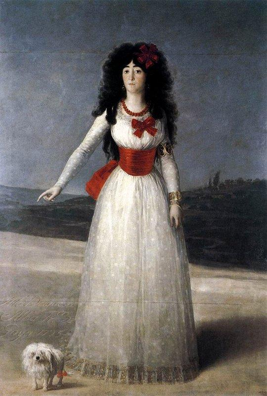 Duchess of Alba, The White Duchess - Francisco Goya