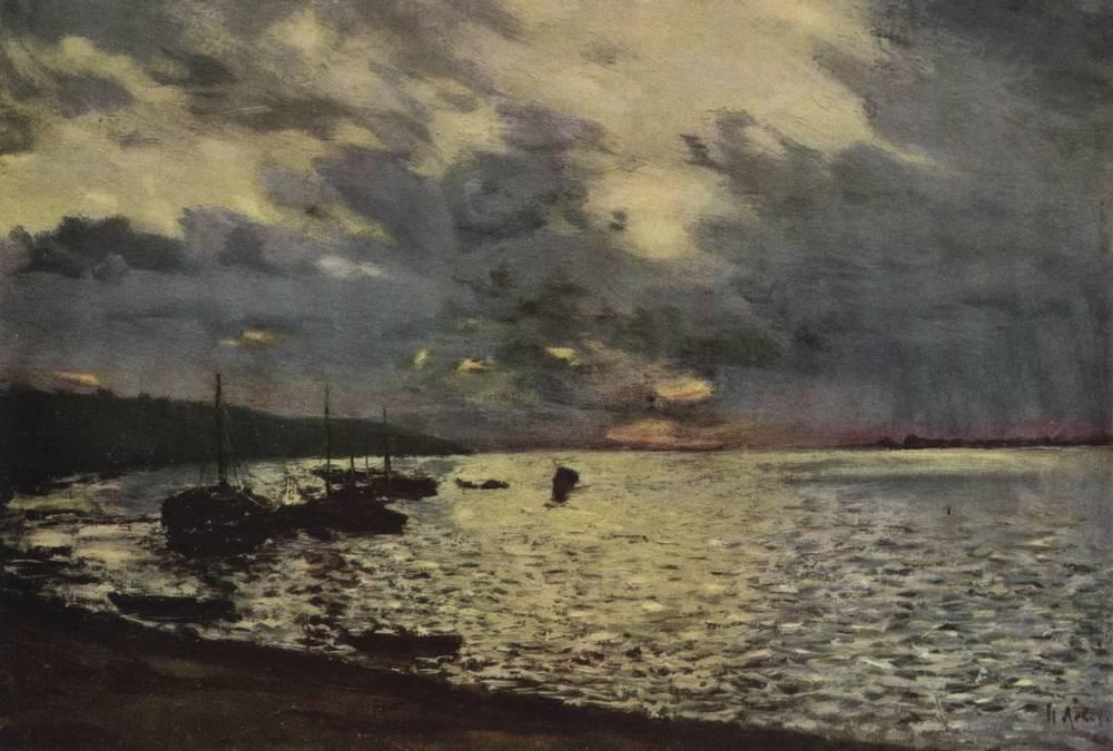 Dull day at Volga - Isaac Levitan