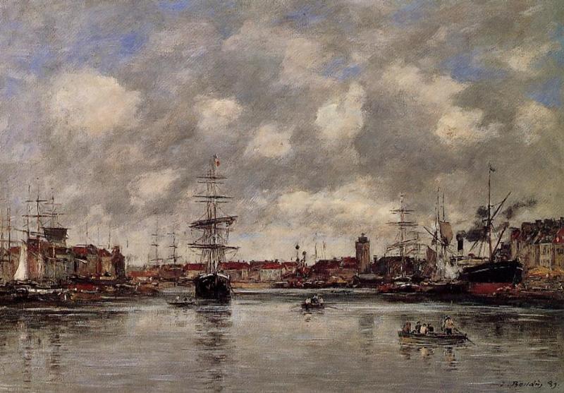 Dunkirk, the Holland Basin - Eugene Boudin