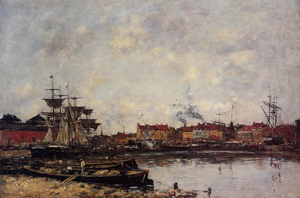 Dunkirk, the Inner Port - Eugene Boudin