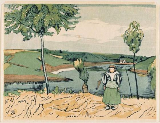 Dutch Girl In Landscape - Kanae Yamamoto