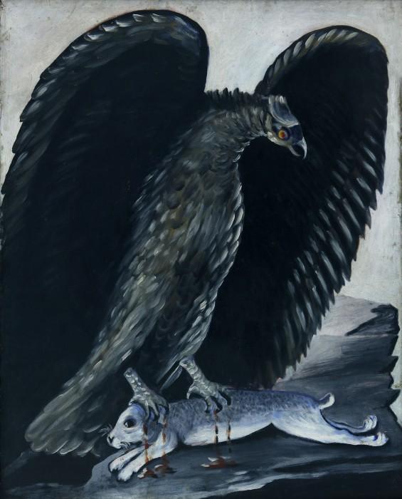 Eagle caught a rabbit - Niko Pirosmani