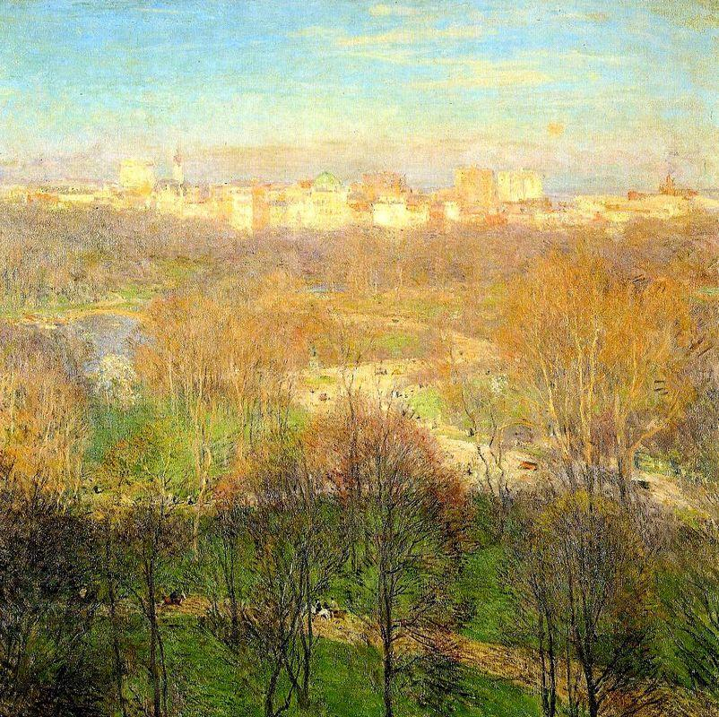 Early Spring Afternoon, Central Park - Willard Metcalf