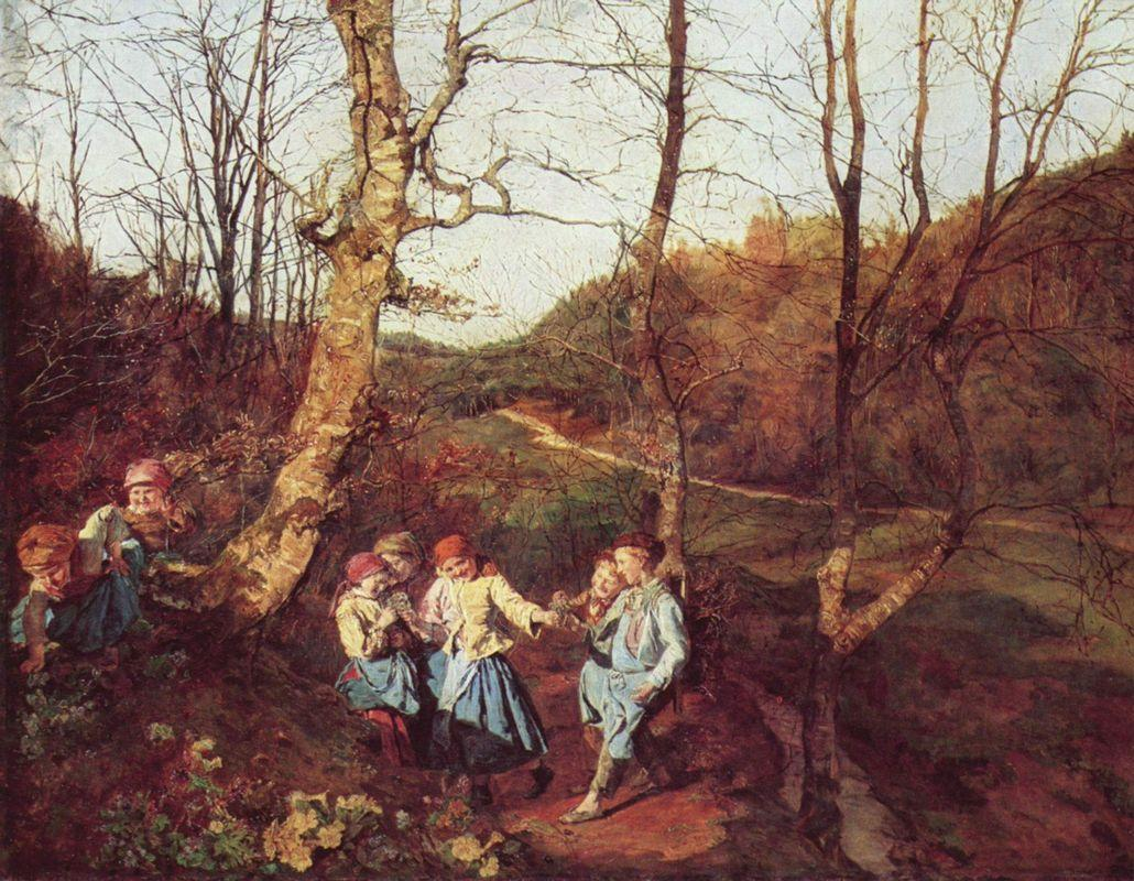 Early Spring in the Vienna Woods  - Ferdinand Georg Waldmuller
