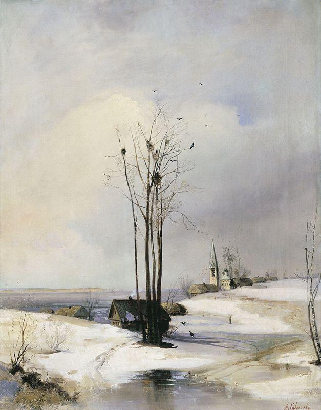 Early Spring. Thaw - Aleksey Savrasov