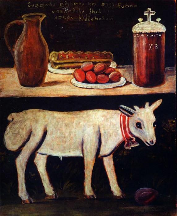 Easter lamb on Easter table - Niko Pirosmani