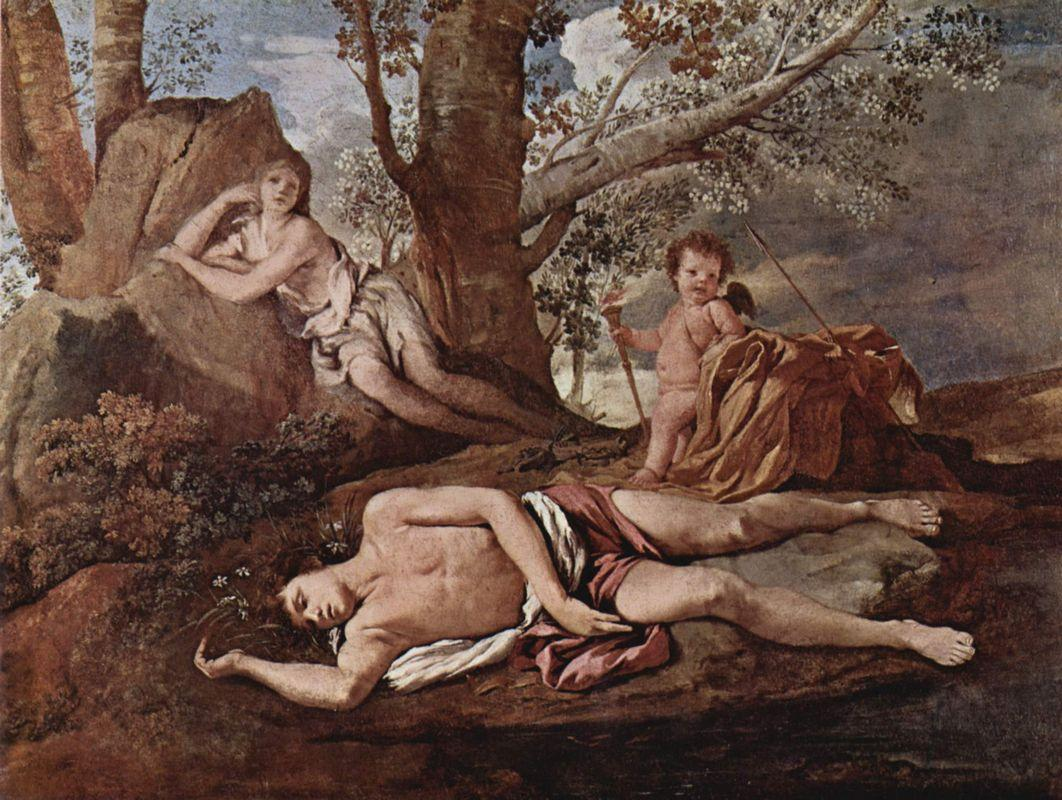 Echo and Narcissus - Nicolas Poussin