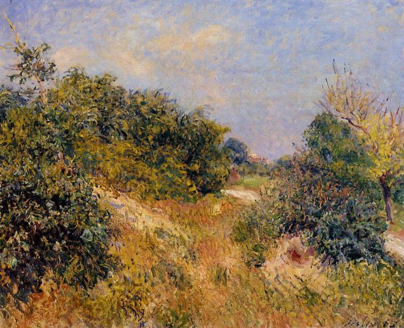 Edge of Fountainbleau Forest June Morning - Alfred Sisley