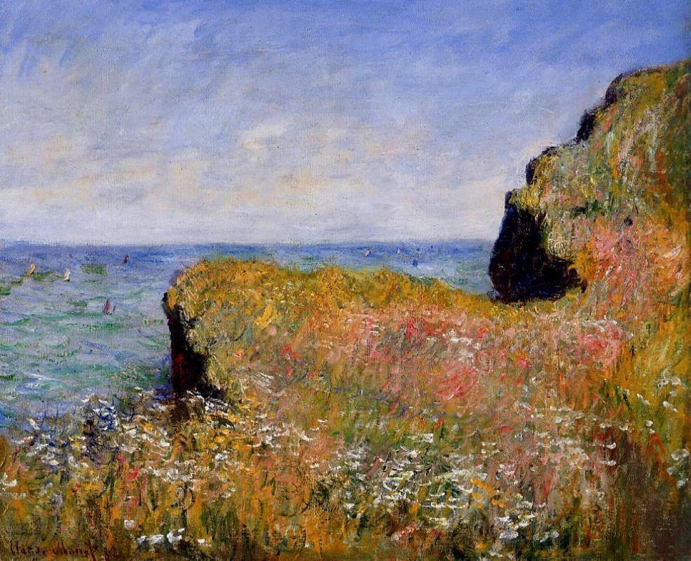 Edge of the Cliff, Pourville - Claude Monet