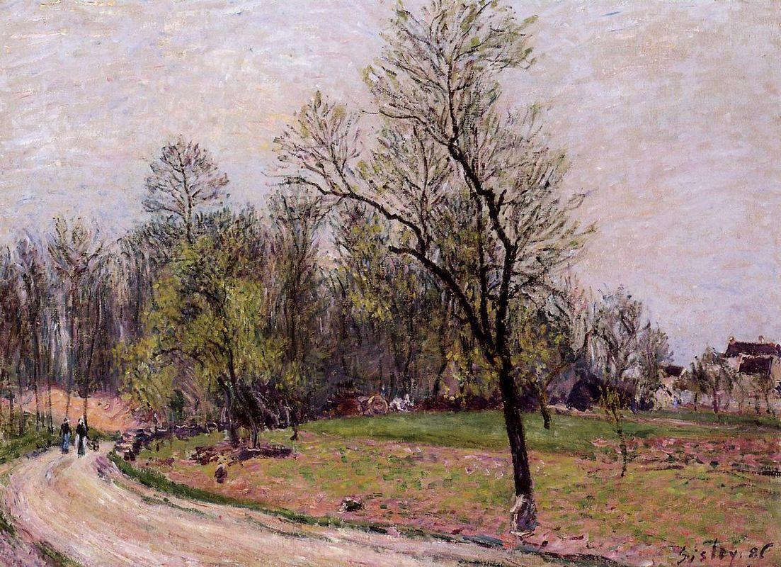 Edge of the Forest in Spring, Evening - Alfred Sisley