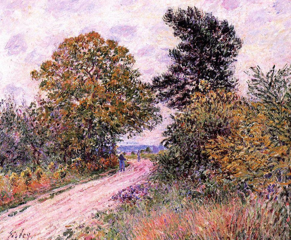 Edge of the Fountainbleau Forest Morning - Alfred Sisley