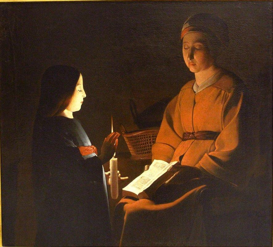 Education of the Virgin - Alonzo Cano