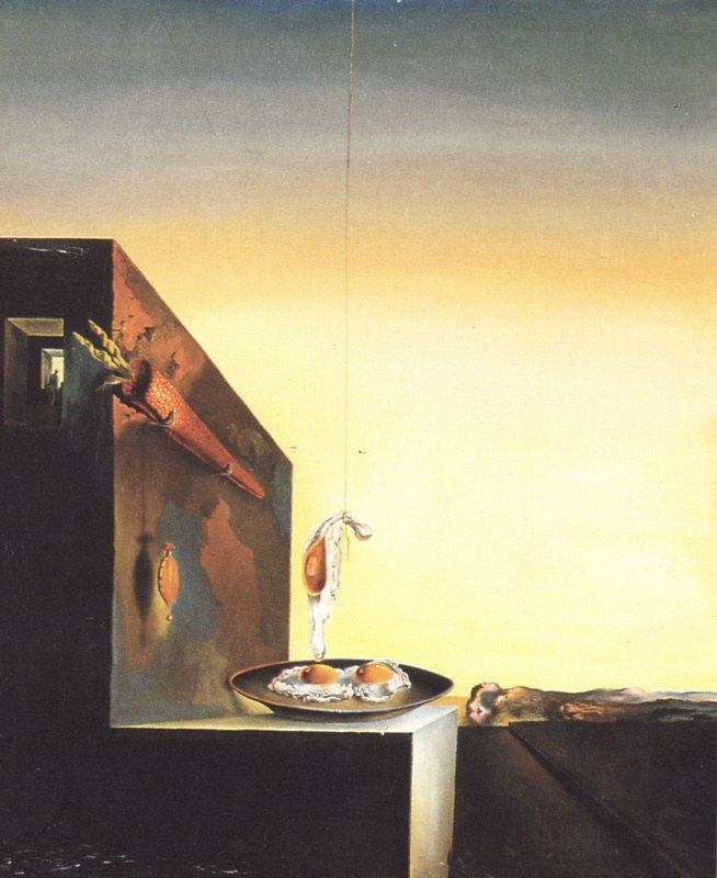 Eggs on Plate without the Flat - Salvador Dali