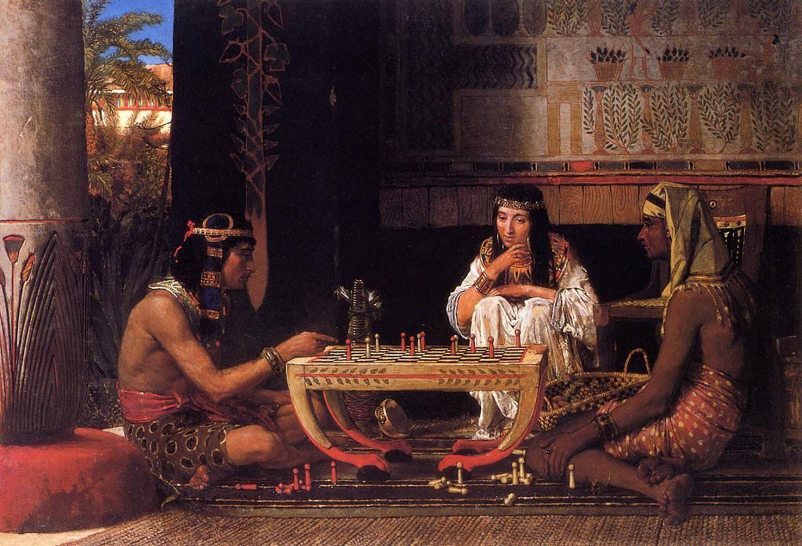 Egyptian Chess Players - Sir Lawrence Alma-Tadema