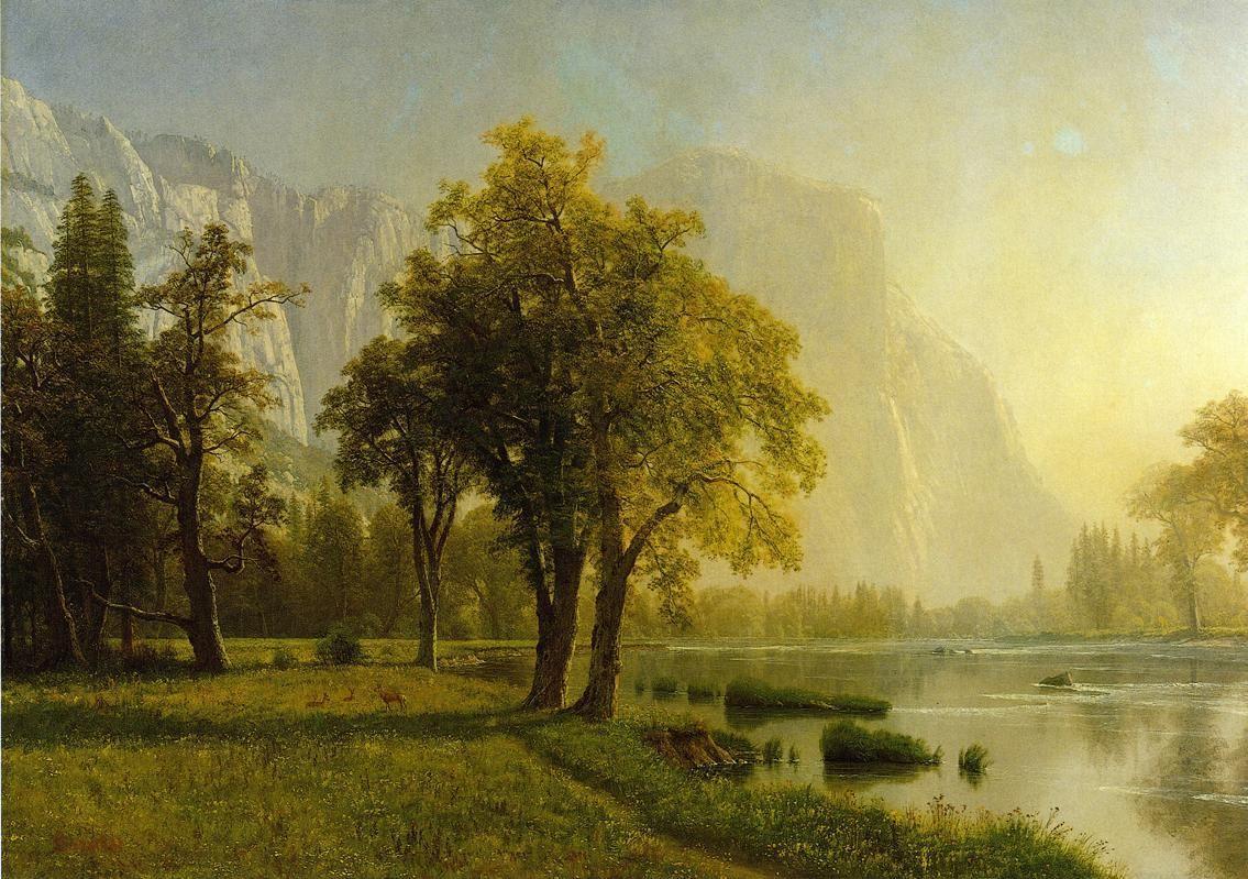 El Capitan, Yosemite Valley - Albert Bierstadt