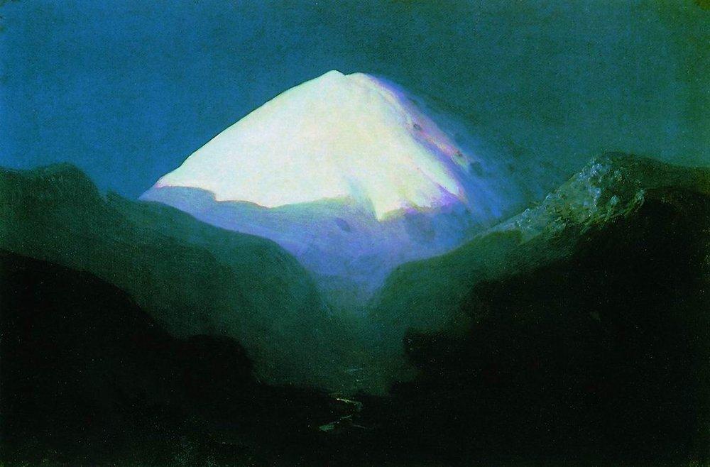 Elbrus. Moonlit Night - Arkhip Kuindzhi