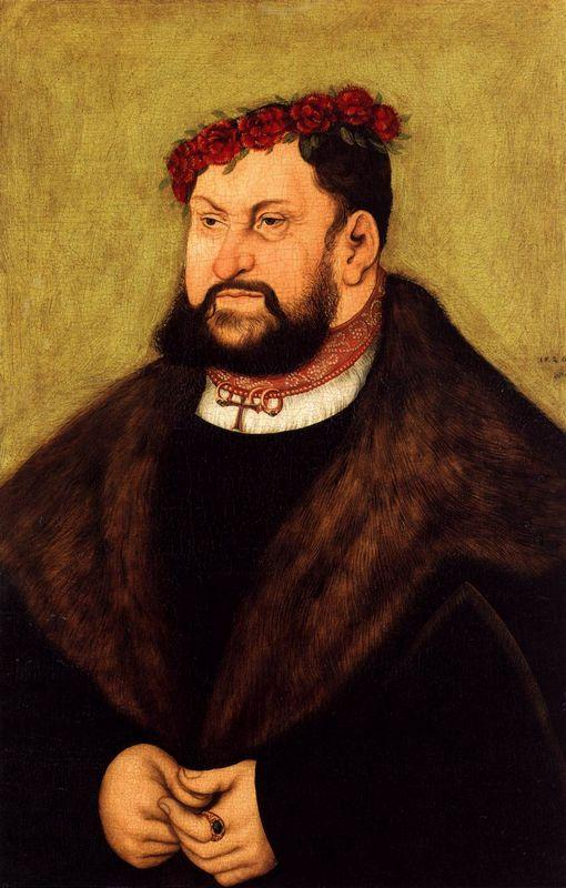 Elector John the Constant of Saxony - Lucas Cranach the Elder