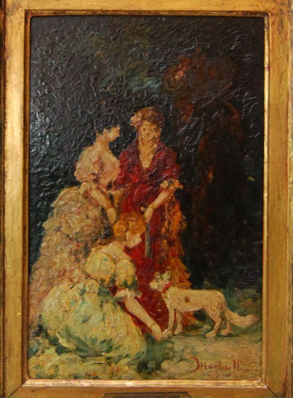 Elegant gathering - Adolphe Joseph Thomas Monticelli