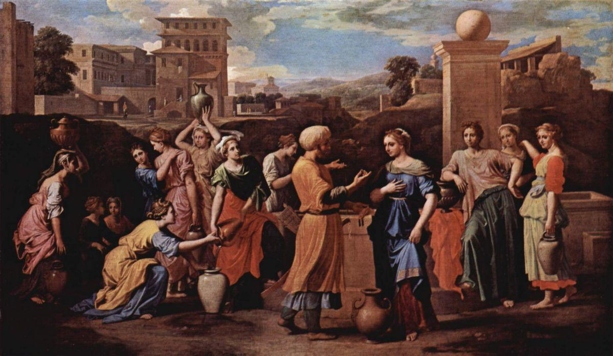 Eliezer and Rebecca at the Well - Nicolas Poussin
