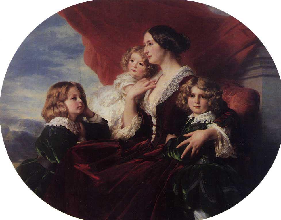 Elzbieta Branicka, Countess Krasinka and her Children - Franz Xaver Winterhalter