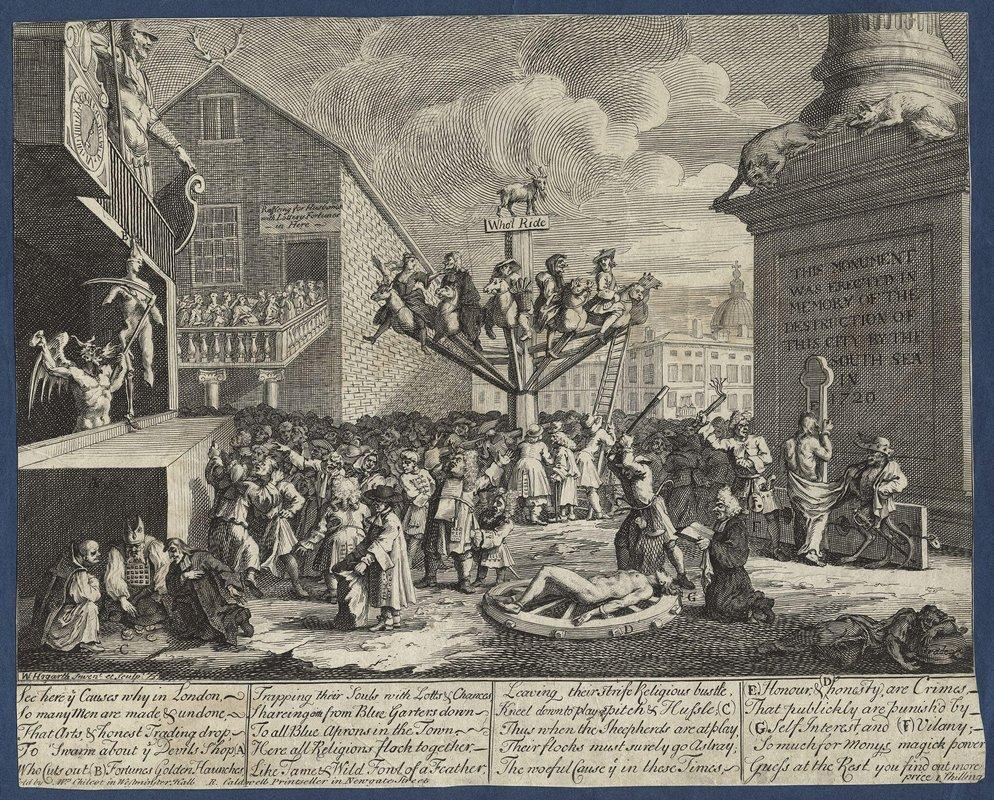Emblematical print of the South Sea Scheme - William Hogarth