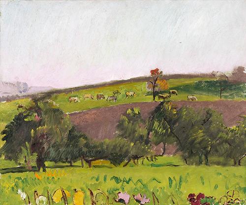 Emmental landscape with grazing animals - Cuno Amiet