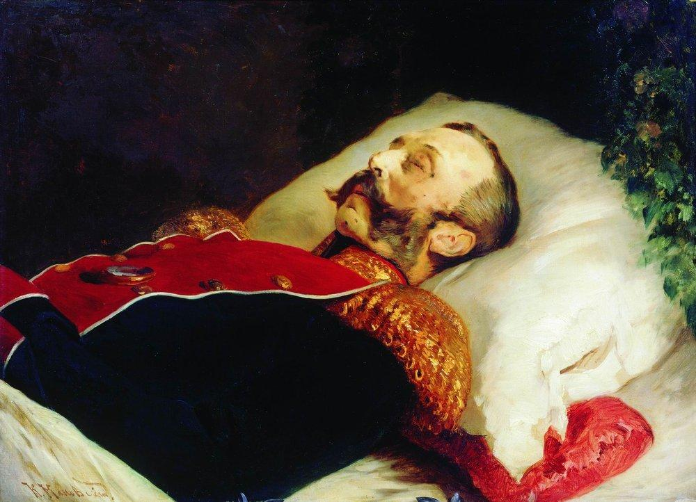 Emperor Alexander II on His Deathbed - Konstantin Makovsky