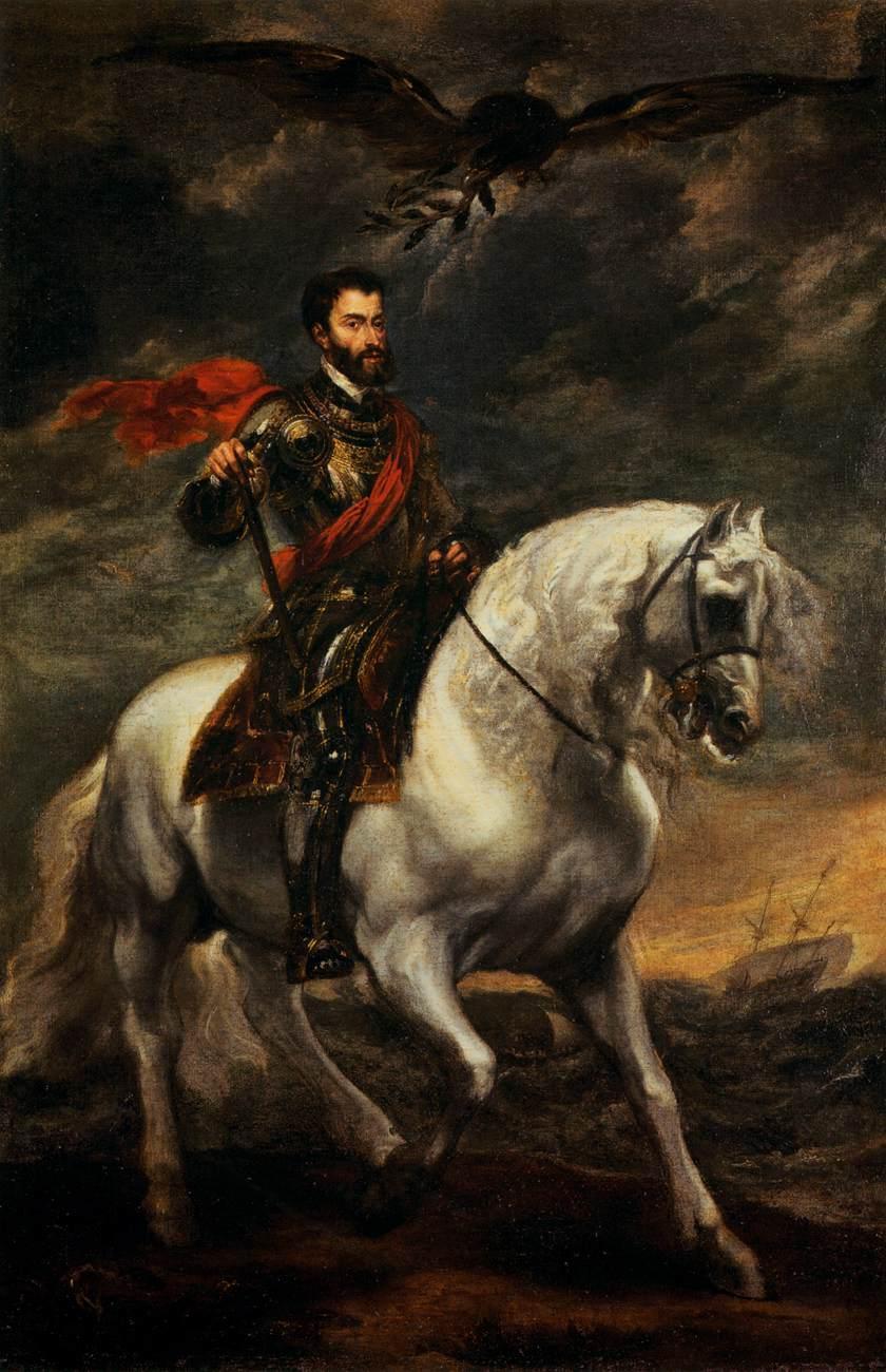 Emperor Charles V on Horseback - Anthony van Dyck