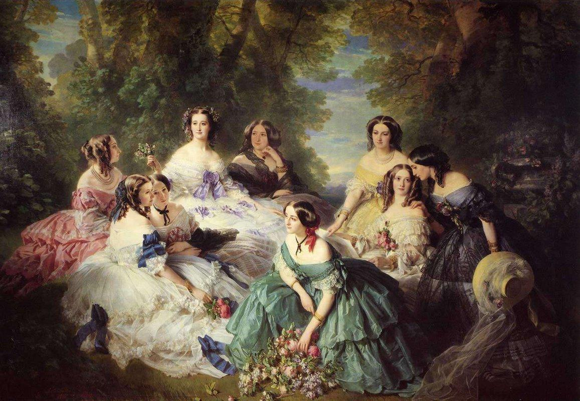 Empress Eugenie, Surrounded by her Ladies-in-Waiting - Franz Xaver Winterhalter